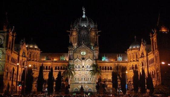 chhatrapati railway terminus mumbai, india